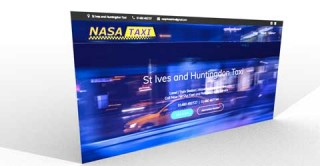 nasa taxis web design