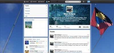 Set up and style your twitter page service.