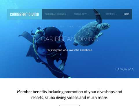 "Caribbean Diving [Video Background Website] <a style=""color:#abedef;"" href=""https://caribbean-diving.com"">https://caribbean-diving.com</a>"