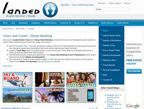 "Landed Adventure Travel [ Joomla Community and Blog Website] <a style=""color:#abedef;"" href=""https://landed.at"">https://landed.at</a>"